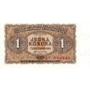 1 Kčs 1953 bankovka ČSSR