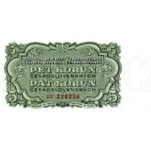 ČSSR 5 Kčs 1953 Bankovka