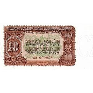 ČSSR 10 Kčs 1953 Bankovka