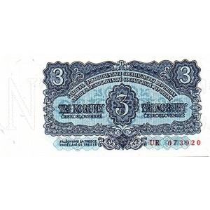 ČSSR 3 Kčs 1961 Bankovka