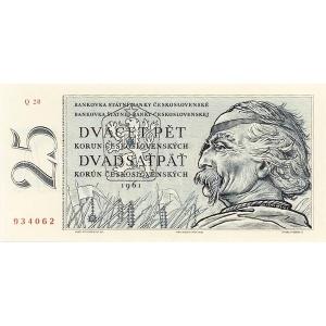 ČSSR 25 Kčs 1961 Bankovka