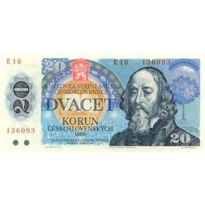 ČSSR 20 Kčs 1988 Bankovka