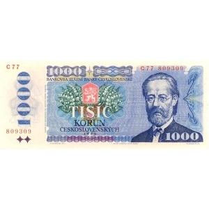 ČSSR 1000 Kčs 1985 Bankovka