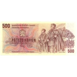 ČR  500 Kčs 1993/1973 kolkovaná Bankovka