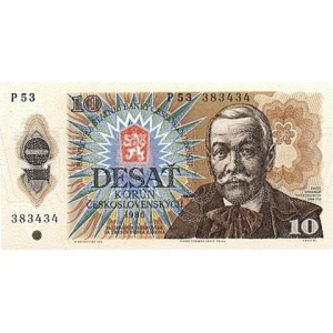 ČSSR 10 Kčs 1986 Bankovka