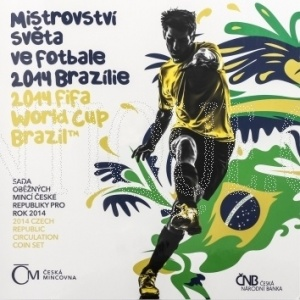 Sada mincí ČR 2014 BJ MS fotbal Brazílie