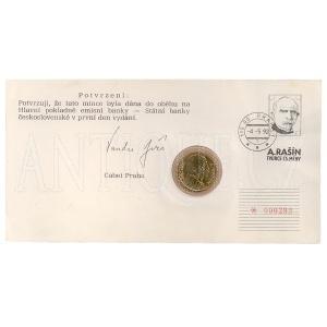 ČSSR Minc. dopis 10 Kčs 1992 Rašín