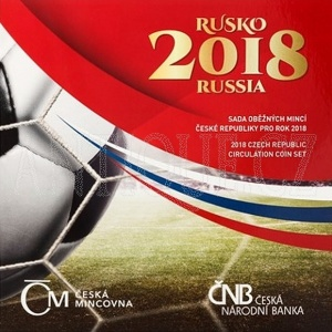 Sada mincí ČR 2018 BJ fotbal Rusko
